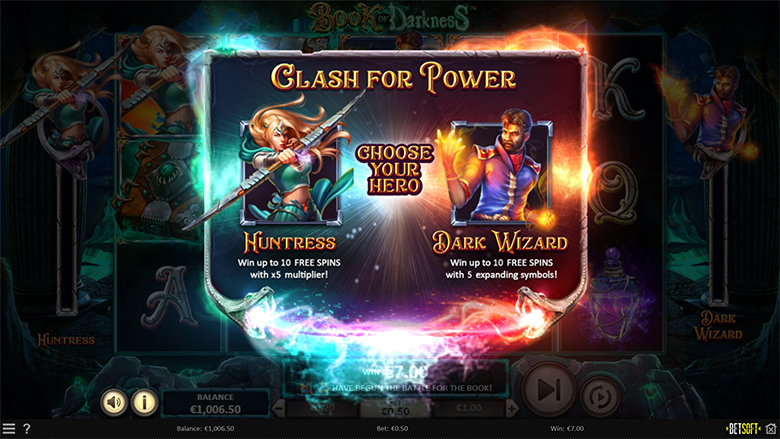 Betsoft et Blitz présentent Book of Darkness - The Clash for Power
