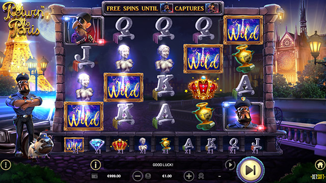 Return to Paris - Open ended free spins