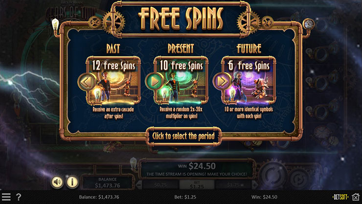 Miles Bellhouse And The Gears Of Time - Free Spins