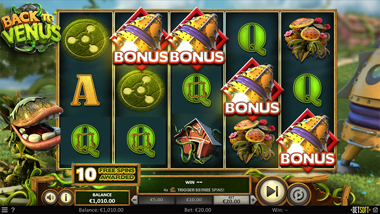 Back To Venus Feature - Rocketship Free Spins