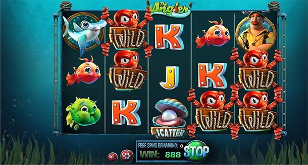 the Angler - Oyster Free Spins